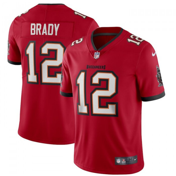 Tampa Bay Buccaneers Tom Brady Nike Red Vapor Limited Jersey