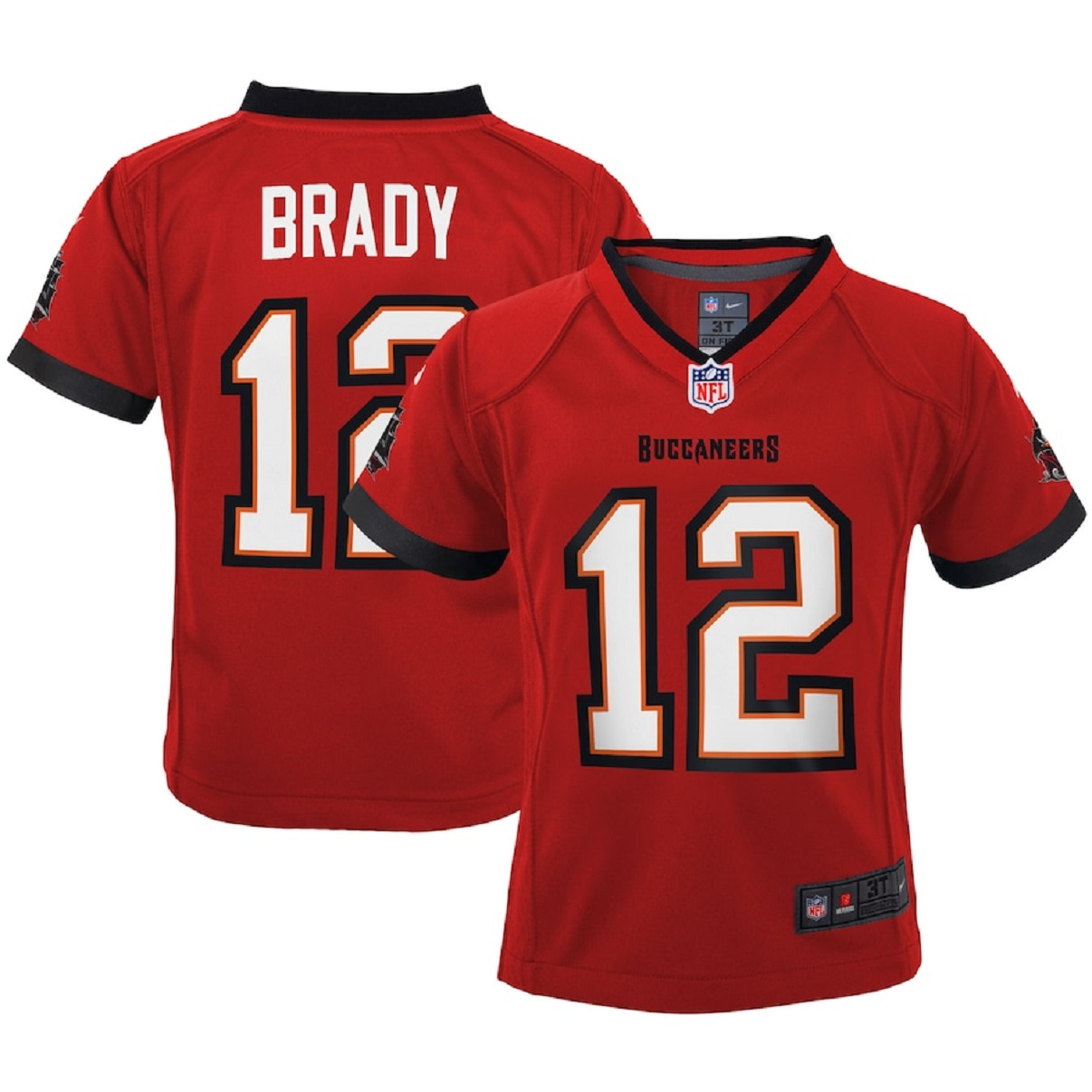 Tampa Bay Buccaneers Tom Brady Youth Red Nike Toddler Jersey