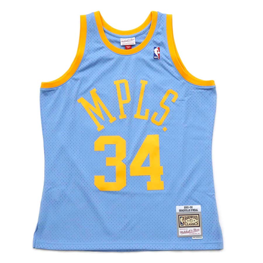 Los Angeles Lakers Alternate MPLS Shaquille O'Neal Mitchell & Ness ...